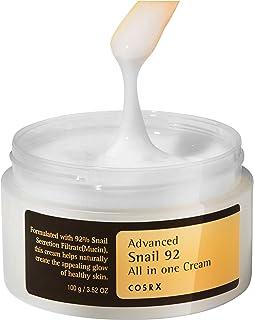 COSRX Advanced Snail 92 All in one Cream, 3.53 oz / 100g | Snail Secretion Filtrate 92% for Moisturizing | Korean Skin Care