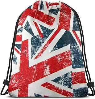 Lawenp Union Jack Montage Dining London Mochila con cordón Bolsas Deportivas Cinch Tote Bags para Viajes y Almacenamiento para Hombres y Mujeres de 17 x 14 Pulgadas