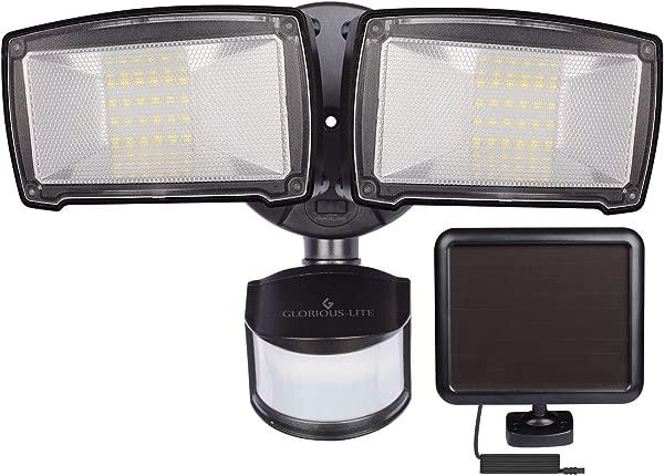 光荣的精简版 950LM 太阳能户外灯 5500K 感应安全灯带自动永久的模式 IP65 防水 led灯的安全月头太阳能泛光灯的廊后院