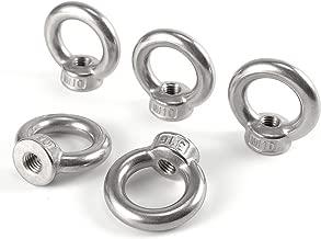 Hamimelon A4 Marine Grade Stainless Steel Lifting Eye Bolts Nuts Female Nuts M5 M6 M8 M10 Metric Thread (M10,5pcs)