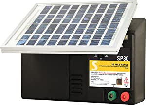 Zareba ESP30M-Z 30-Mile Solar-Powered Low-Impedance Electric Fence Charger