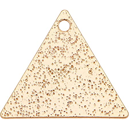 BENECREAT 50pcs 18K Gold Plated Brass Triangle Blank Pendants Brass Stamping Blanks for Bracelet Earring Pendant Charms Dog Tags, 15x13mm