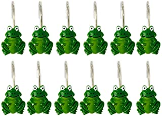 YING CHIC YYC Set of 12 Resin Frog Shower Curtain Hooks Cartoon Bath Room Hooks Bathroom Decor