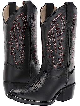 Boy's Black Cowboy Boots + FREE