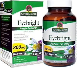 Nature's Answer Eyebright Herb Capsule Supplement, 90-Count | Supports Healthy Eyes & Vision | Promotes Respiratory Function
