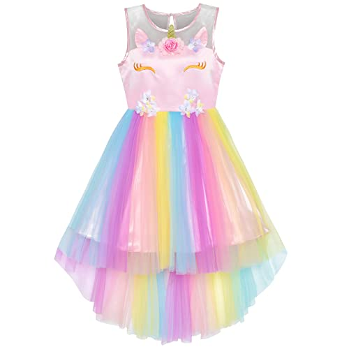 570daaa26618d Sunny Fashion Girls Dress Sequin Mesh Party Wedding Princess Tulle