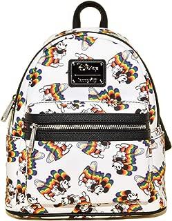Disney's Mickey Mouse Rainbow Mini Backpack, White-rainbow