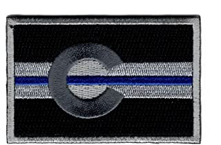 Colorado Subdued Thin Blue Line State Flag Hook Patch (PCO1)