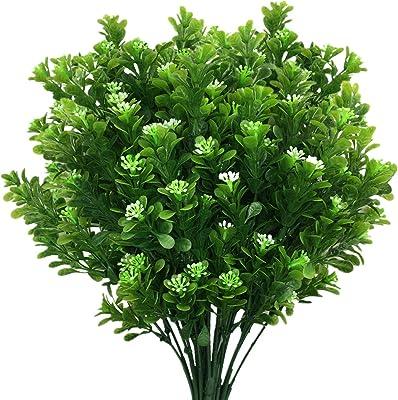 Home Wedding Decor Cloth Foliage Bush Artificial Plant Green Grass Fake Leaf
