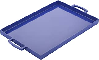 Zak Designs 2323-0010-AMZ Perfect Living Room Kitchen Metal Handles Zak Serving Trays, MeeMe Large, Blue