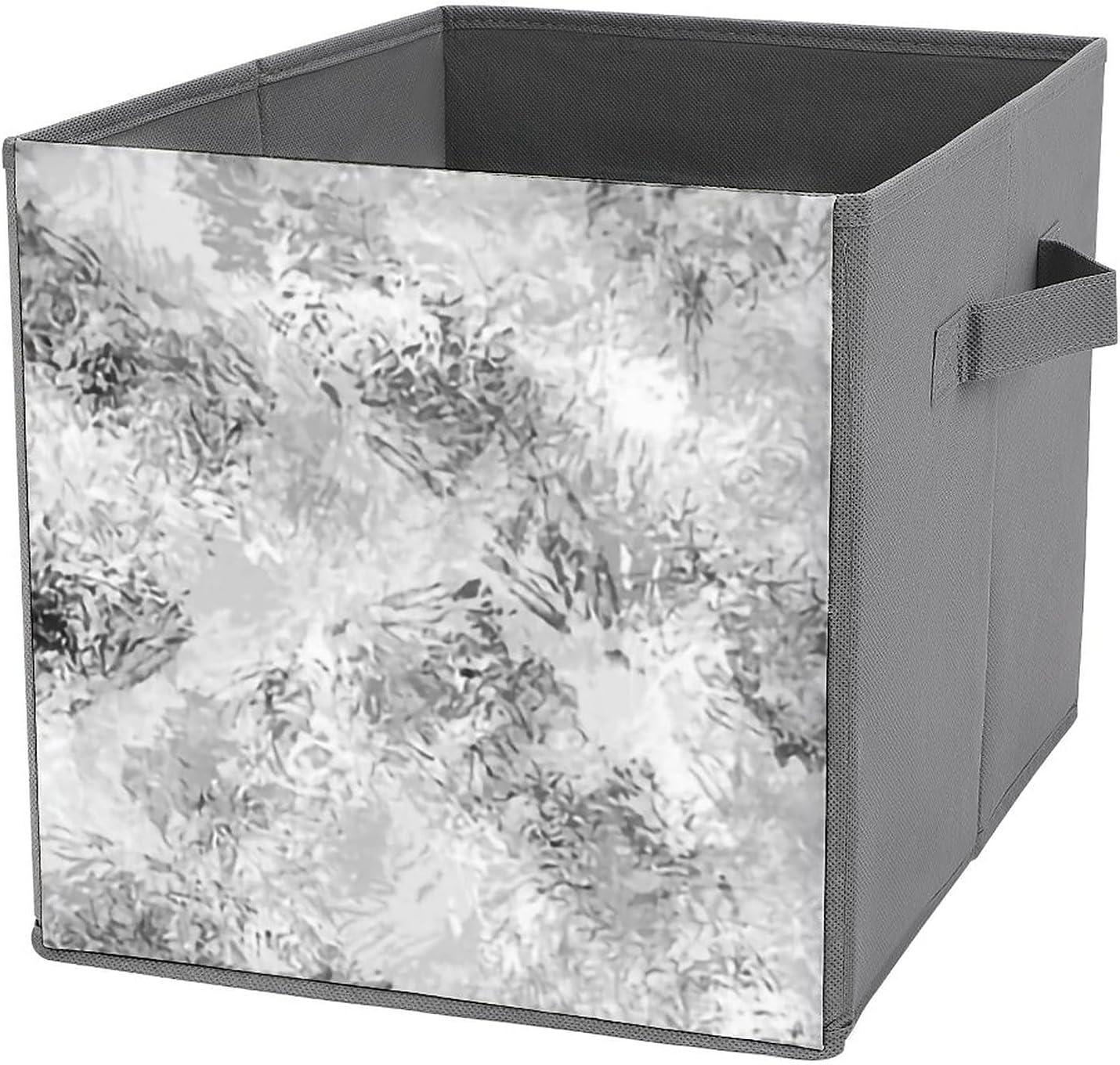 MMJUI Los Angeles Mall Brushwork Grey Folding Storage Arlington Mall Sto Collapsible Bins Fabric