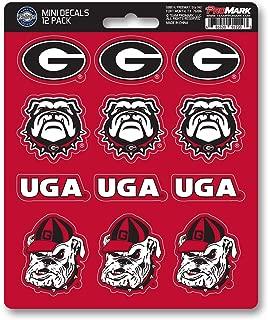 ProMark NCAA Georgia Bulldogs Decal Set Mini (12 Pack), Team Color, One Size