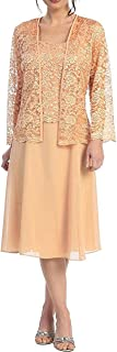 CladiyaDress Women Straps A Line Short Mother of The Bride Dress Evning Gown with Jacket D109LF