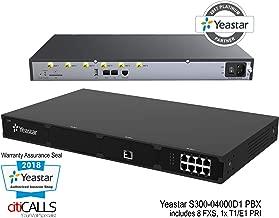 YeaStar YST-S300-04000D1 VoIP SIP IP Rack PBX 300 Ext 8 FXS 0 FXO 0 GSM 1 PRI