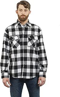 Men's Outdoor Long Sleeve Flannel Plaid Button Down Shirt