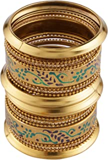 Boho Vintage Antique Gypsy Tribal Indian Oxidized Gold Plated Bracelets Bangle Set (18 Pc)