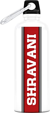 """Go Local™ Me Red Band-""""Shravani"""" Stainless Steel Personalized Name Bottle, 750ml (Multicolor)"""