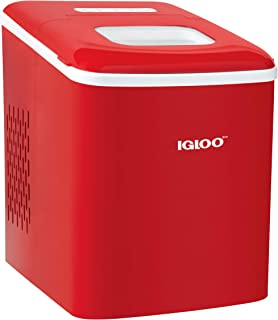 Igloo ICEBNH26RD Automatic Self-Cleaning Portable Electric Countertop Ice Maker Machine, 26 Pounds in 24 Hours, 9 Cubes Re...