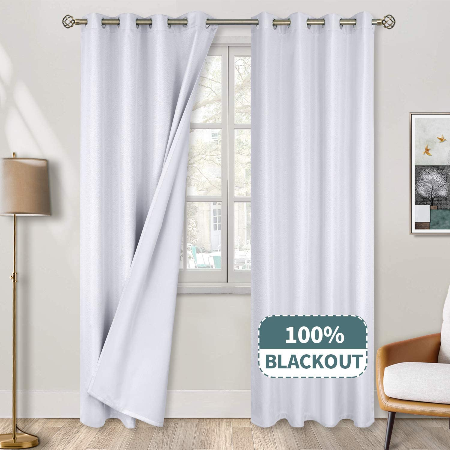 BGment 100% Blackout Curtains for New sales Grommet Ther Bedroom Sales for sale Jacquard