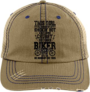 This Girl Is Taken Hat, My Awesome Chubby Tattooed Biker Trucker Cap