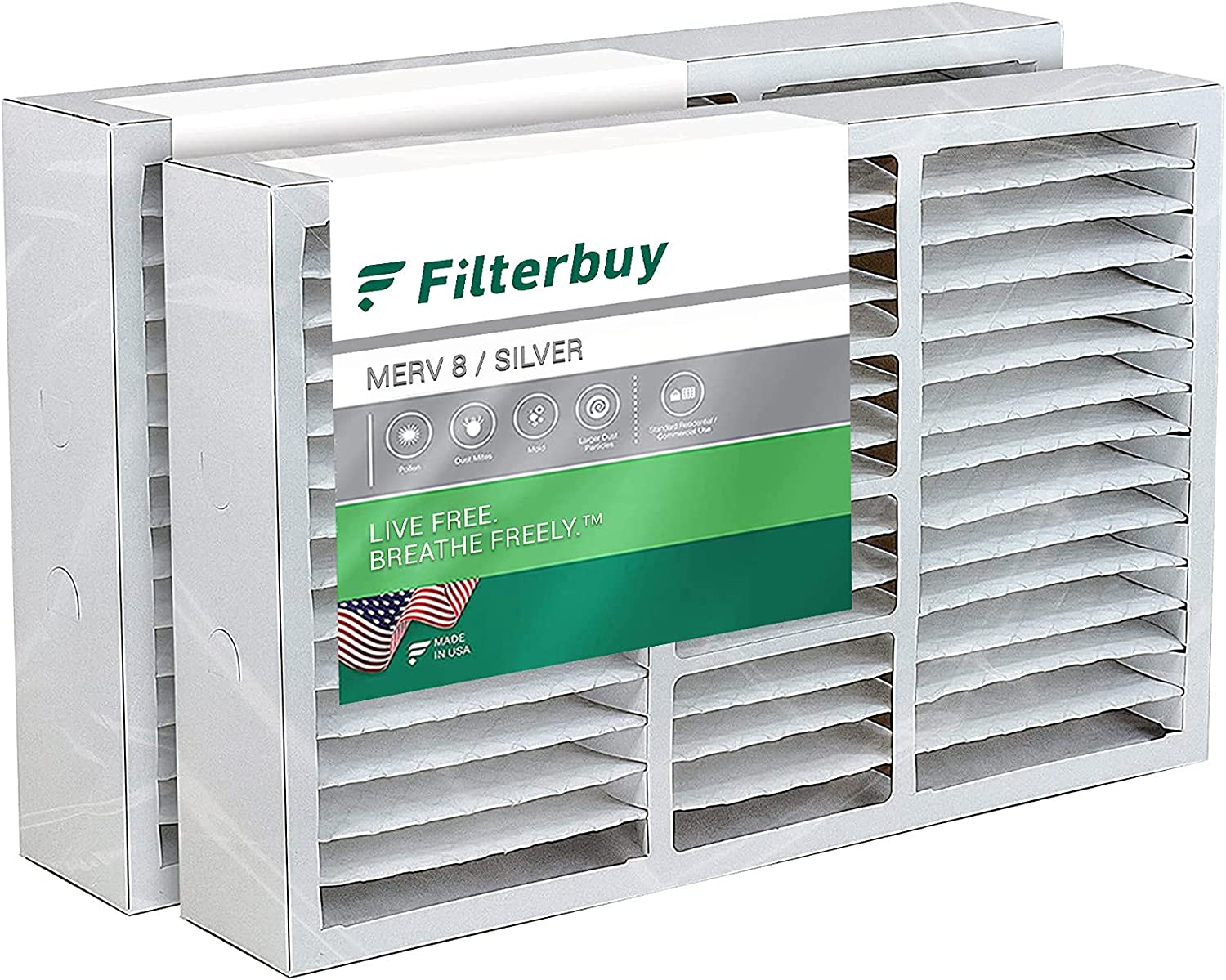 FilterBuy 19x20x4 19x20x5 Air Filter Pleated New color Replaceme 8 MERV Long Beach Mall