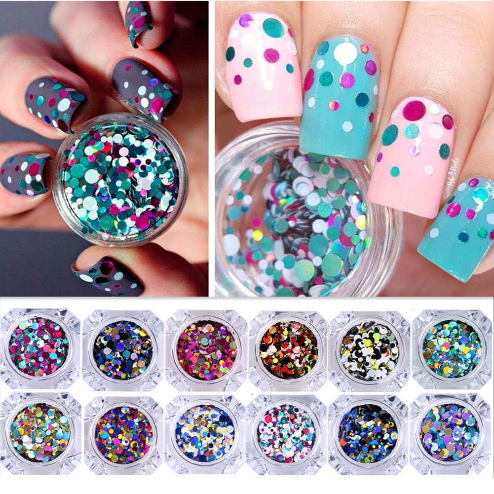 NICOLE DIARY 12 Boxes Nail Glitter Flake- Buy Online in China at Desertcart