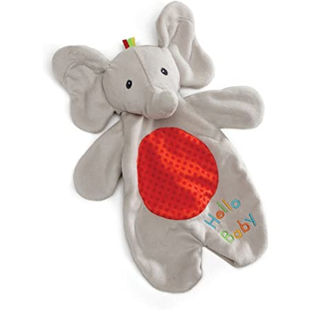 """Baby GUND Flappy the Elephant Lovey Plush Stuffed Animal Blanket and Puppet, 11.5"""""""