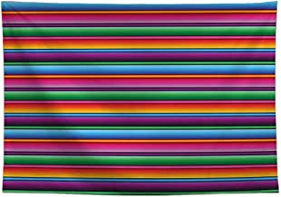 Allenjoy 8x6ft Color Fiesta Theme Party Stripes Backdrop Cinco De Mayo Mexican Festival Photography Background Cactus Banner Decoration Event Table Decor Banner Background Children Photo Booth Shoot