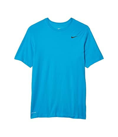 Nike Big Tall Dry Tee Dri-Fit Cotton Crew Solid (Laser Blue/Black) Men