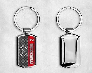 rosso 2.75 Inch L x 1 Inch W dantegts Mazda Zoom l/ágrima llavero Authentic Logo Llavero Llavero Lanyard
