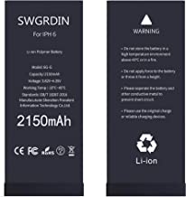 Swgrdin OEM Battery for iPhone 6 Battery Replacement, 2150mAH High Capacity for Apple..