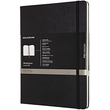 """Moleskine PRO Notebook, Hard Cover, XL (7.5"""" x 9.5"""") Professional Project Planning, Black, 192 Pages"""