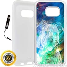 Custom Galaxy S7 Case (Beware of Pit Bulls) Edge-to-Edge Rubber White Cover Ultra Slim | Lightweight | Includes Stylus Pen by Innosub