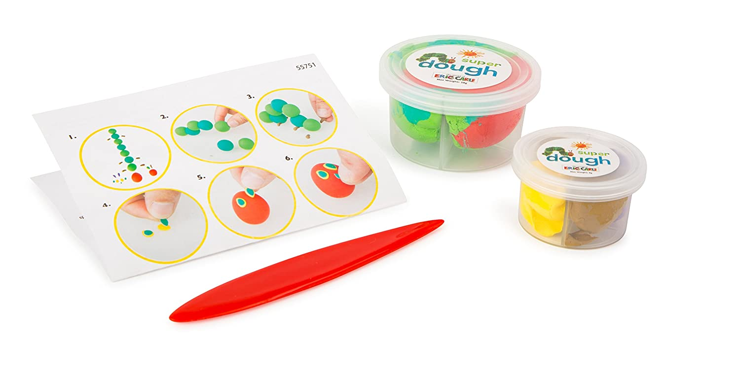 Kids Preferred 10663?Dough Setdie Very Hungry Caterpillar, with Plastic Knives and Instructions in Practical Storage Box, A Great Creative