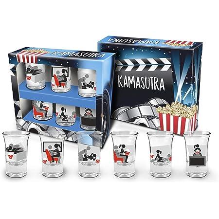 CARMANI - Juego de 2 vasos de chupito decorados con Gustav ...