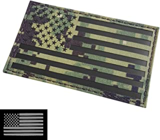 IR Large 3x5 AOR2 USA American Flag NWU Type III US Navy Seals DEVGRU Infrared Tactical Morale Hook&Loop Patch