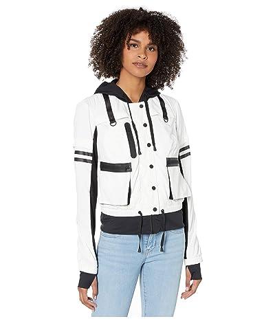 Blanc Noir Skyfall Bomber Jacket (White/Black) Women