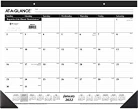 """2022 Desk Calendar by AT-A-GLANCE, Monthly Desk Pad, 21-3/4"""" x 17"""", Large (SK2400)"""