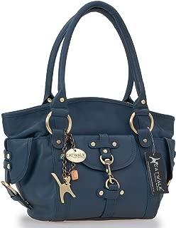 Catwalk Collection Handbags - Women's Leather Top Handle/Shoulder Bag - KARLIE