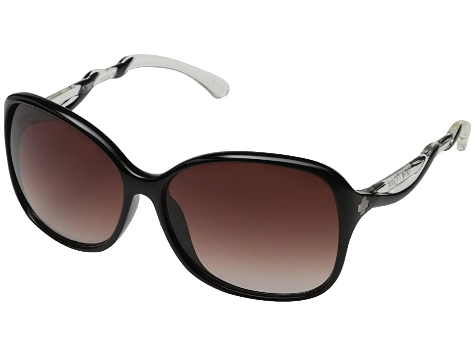 Spy Optic Fiona (Black w/ Clear/Happy Merlot Fade) Sport Sunglasses