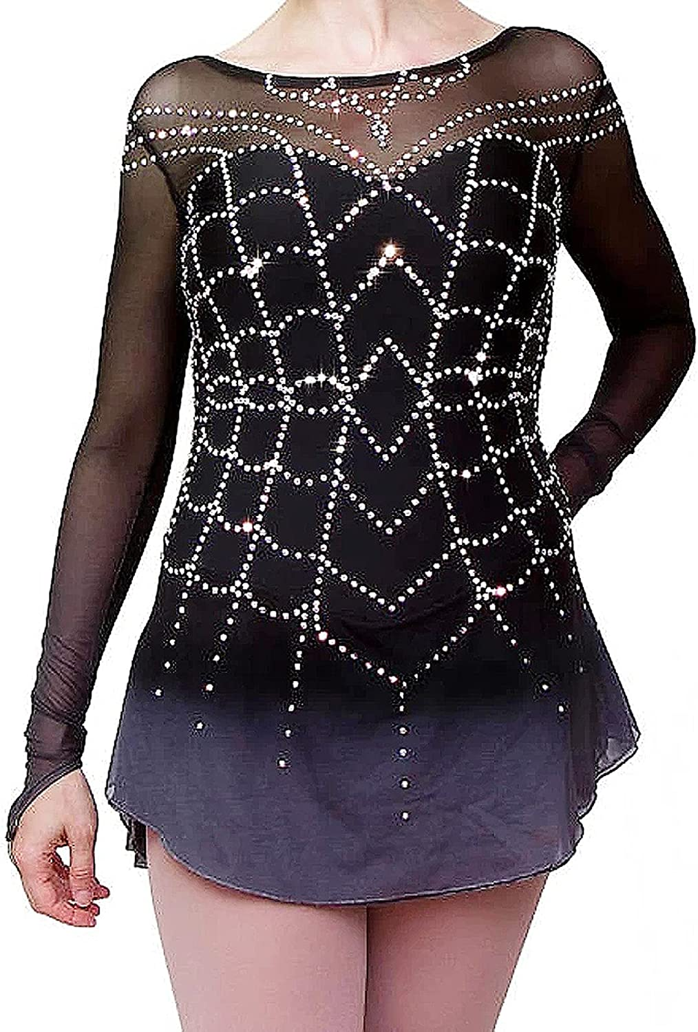 Figure Skating Dress Girls Max 80% OFF Free shipping New Competitive Pro Women's Spandex