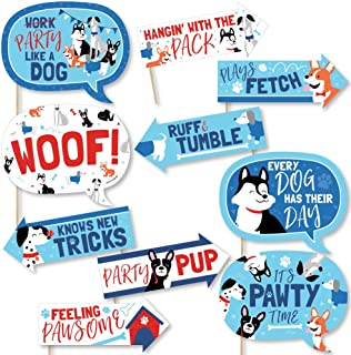 56b18e3d84 Funny Pawty Like a Puppy - Dog Baby Shower or Birthday Party Photo Booth  Props Kit