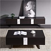 Living Room Locker Rock Board Coffee Table Home Living Room Floor TV Cabinet Simple Modern Storage Coffee Table Annacboy (...