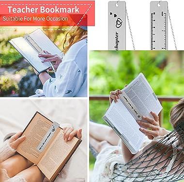 2 Pieces Bookmark with Chain 2021 Inspirational Graduation Retirement Metal Bookmark Book Club Bookworm Wedding Christmas Ann