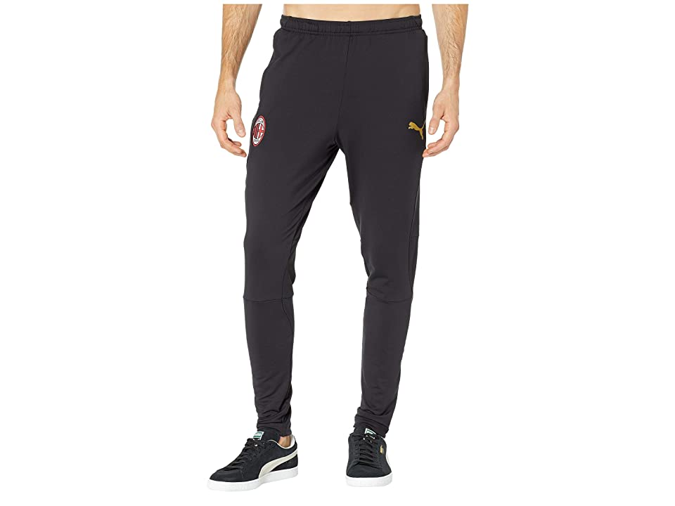 PUMA AC Milan Training Pants with Zipped Pockets (PUMA Black/Victory Gold) Men