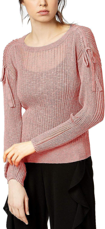 Bar III Women's Ribbed Drawstring Sweater