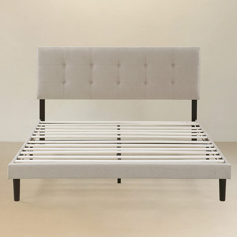Beyond Lifestyle - Upholstered Platform with sold out Frame Bed Ultra-Cheap Deals Adjustabl