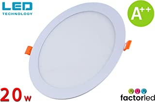 FactorLED ¡OFERTA! Downlight LED 20W Slim, Placa Circular