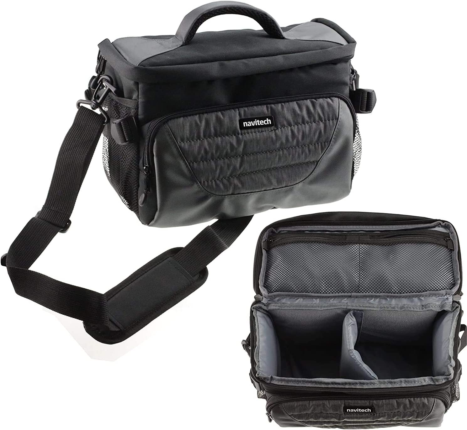 Navitech Grey Shoulder Camera Bag 77D EOS Compatible Max 83% OFF Canon with Soldering