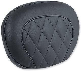 Mustang 06-16 Harley FLHX2 Passenger Backrest Pad (Black Diamond Stitched / 12